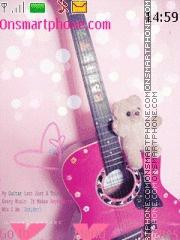 Pink guitar es el tema de pantalla
