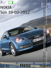 Скриншот темы Animated Car Audi