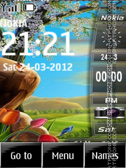 Sidebar Clock theme screenshot