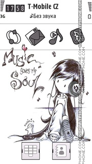 Music Saves My Soul es el tema de pantalla