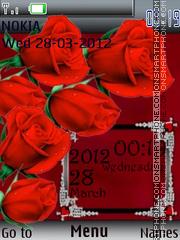 Red Roses tema screenshot