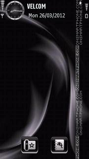 Black theme tema screenshot