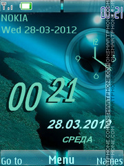 Скриншот темы UFO Clock