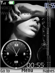 Скриншот темы Black White Clock