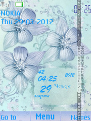 Blue flowers es el tema de pantalla