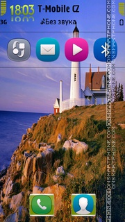 Nature Lighthouse theme screenshot
