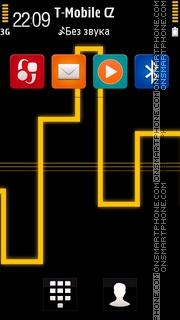 Neon of Lights Yellow theme screenshot