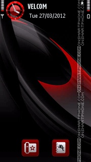 Black red abstract theme screenshot