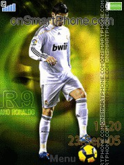 Cristiano Ronaldo theme screenshot