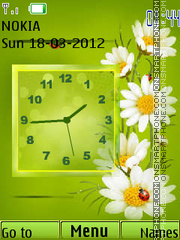 Analog Flower theme screenshot