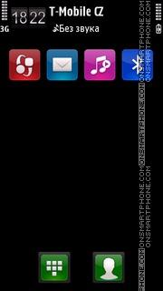 Plain black v3 tema screenshot