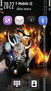 Capture d'écran Devil thème