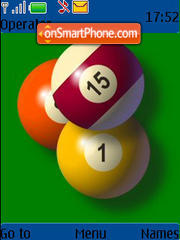 Pool Balls 01 theme screenshot