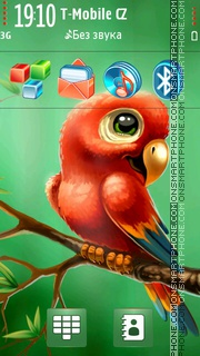 Red Parrot v2 theme screenshot