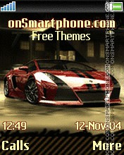 NFS Carbon theme screenshot