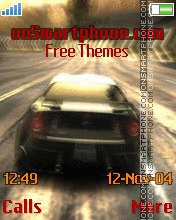 NFS Most Wanted theme screenshot
