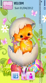 Happy Easter theme screenshot