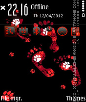 Black Redish theme screenshot