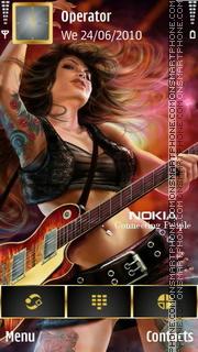 Nokia Music tema screenshot
