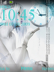 Orologio celestiale theme screenshot