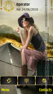 Travel Girl theme screenshot