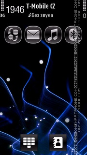 Blue Spark Symbian^1 tema screenshot