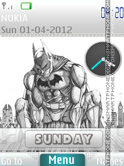 Batman Sketch theme screenshot