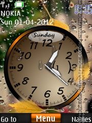 Rain Clock Theme theme screenshot