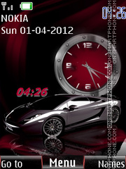 Lamborghini SWF theme screenshot