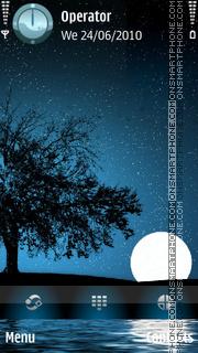 Скриншот темы Star Filled Moonlight