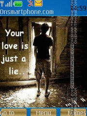 Your love is lie theme screenshot