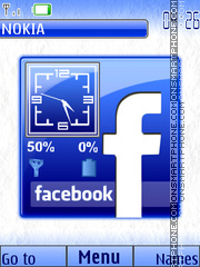 Facebook Clock 01 theme screenshot