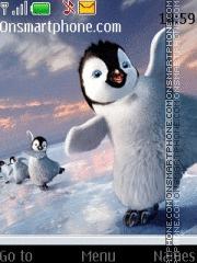 Happy Feet Penguin es el tema de pantalla