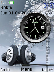 Music Clock 04 theme screenshot