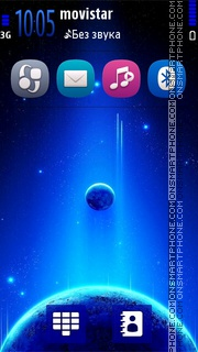 Theme blue planet tema screenshot