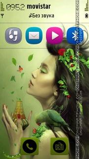 Скриншот темы Spring Girl 01