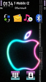 Colorful Apple es el tema de pantalla