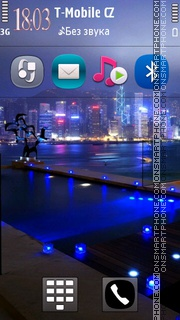 Neon City Lights theme screenshot