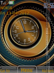 Orange Clock 04 theme screenshot