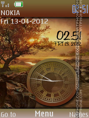 Nature Dual Clock 03 theme screenshot