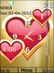 Love dual clock 04 theme screenshot