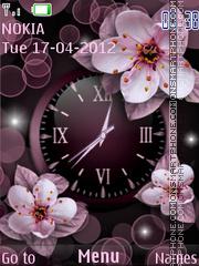 Cherry Flowers tema screenshot