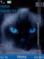 Blue Eye Cat theme screenshot