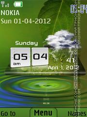 Android Clock Nature theme screenshot