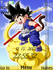 Dbz Chibi tema screenshot