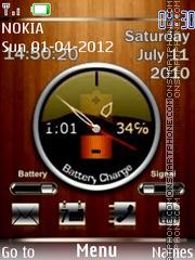 Techno Wood Clock theme screenshot