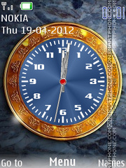 Super Shine Clock tema screenshot