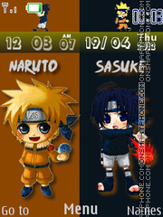 Naruto Clock 01 theme screenshot