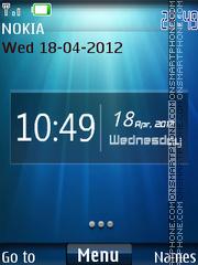 X2 Carbon Clock tema screenshot