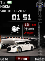 Nissan GTR Clock theme screenshot
